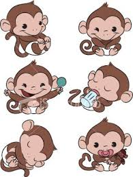 Monitos Tiernos Para Colorear Six Baby Monkeys All Doing Different Things Rocking
