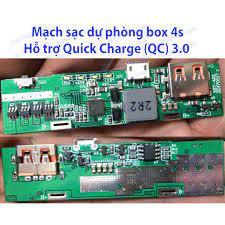 Mạch sạc dự phòng hỗ trợ Quick Charge (QC) v3.0 cho box nhôm 4s