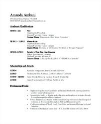 Sample Latex Resume Academic Resume Template 6 Free Word Document