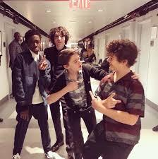 Stranger Things cast - Mike, Dustin, Lucas, Will