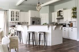 dovetail sw kitchen. (sw sea salt on the walls and ceiling | sw alabaster cabinets, trim, beams, island) dovetail sw kitchen a
