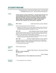 students resume sample new graduate resume sample best resume collection