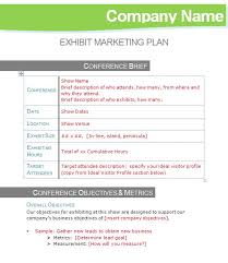 Exhibit Marketing Plan Template