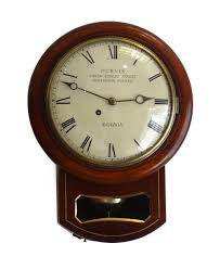 timepiece fusee 8 inch drop dial wall clock