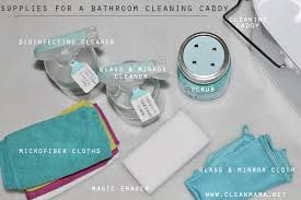 best bathroom cleaning products. Supplies For A Bathroom Cleaning Caddy Via Clean Mama Best Products