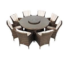 savannah rattan 8 165 cm seat round garden furniture dining set 1 8