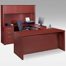 Ideas Of U-shaped Desk With Black Office Chair And Storage
