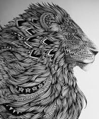 see how the ink lines flow and the whole piece sees harmony and peace with the lions face