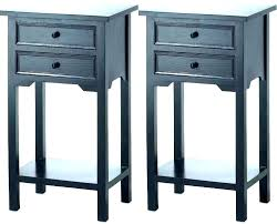 side tables tall black side table bedroom tables thin narrow bedside small glass