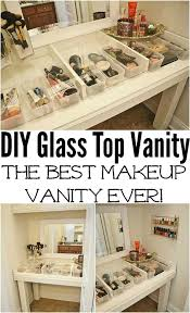 diy makeup organizing ideas glass top makeup vanity projects for makeup drawer box