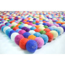 multi intended for 15 bright colored rugs contemporary felt ball rug rectangular in colors handmade nepal regarding 14