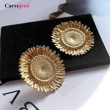 <b>Carvejewl</b> vintage pearl stud <b>earrings</b> Burnished silver plating ...