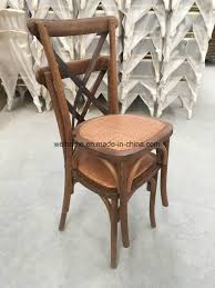 china factory used low wooden vintage cross back wedding chairs china stackable cross back chair oak wood cross back chair