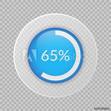 65 Percent Pie Chart On Transparent Background Percentage