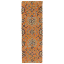kaleen weathered orange 2 ft x 6 ft indoor outdoor runner rug