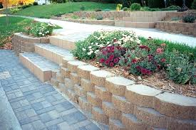 retainer wall block calculator home depot landscape block image of retaining wall blocks with stairs home