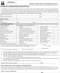 Sample Work Authorization Form 9 Examples In Word Pdf
