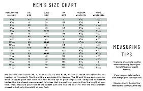 Slip On Size Chart Lakeside Slip