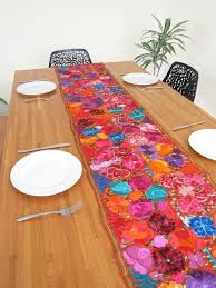 28 lovely colorful table runners
