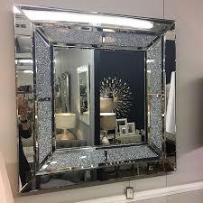 diamond glitz large square wall mirror