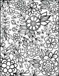 Coloring Pages For Adults To Print Flowers