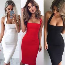 <b>New Sexy</b> Women's <b>Summer</b> Sleeveless <b>Halter</b> Bodycon Evening ...