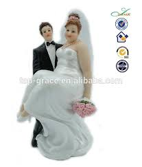 Polyresin Fat Bride And Thin Groom Funny Cake Toppers Manufacturer