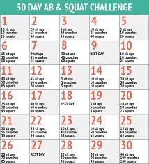 30 Day Ab Squat Challenge Squat Ab Challenge 30 Day