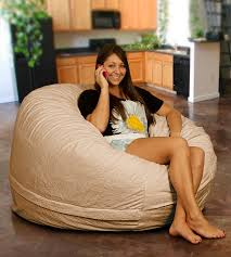 bean bag chair in sand fur use a couple of these or something similar