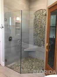 half neo angle frameless chrome clear tempered hinge shower door