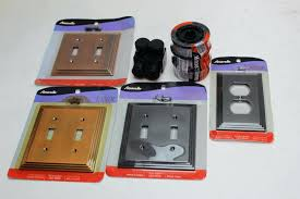 feed bulk lot 6 pieces amerelle wall plates chelsea brushed nickel
