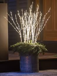 Outdoor Lighted Stick Trees Birch Led Outdoor Branches Lighted Sticks Decoration