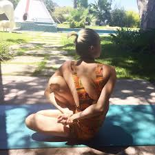miley cyrus a yoga superstar sure if the a says so but that s how they talk about every celebriyogi posting yoga pics on insram and there are