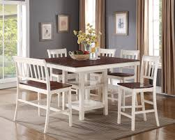 nyla counterheight dining table – antique white and cherry  the