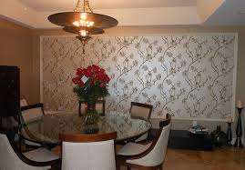 4 decorative wall panels dining room