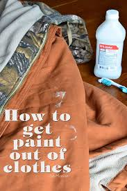 find out how to get dried paint out of clothes at tidymom net