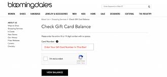 check bloomingdales gift card balance
