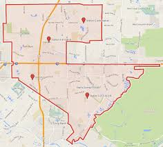 Territory Map 48 Hc Katy Texas - Esd