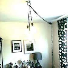 swag lamps plug chandeliers how to a chandelier in mini amazing ceiling ring kit s crystal swag plug in chandelier