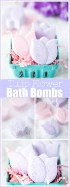 DIY Tulip Flower Bath Bombs