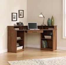 sauder camber hill corner desk with slide out center drawer
