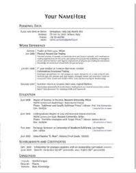 Mba Application Resume Format