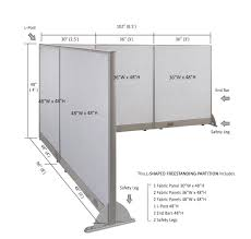 office room dividers.  office gof lshaped freestanding office panel cubicle wall divider partition 96d x  102w 48h to room dividers