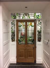 stained glass surround made to match original door panels for the set of emale uk