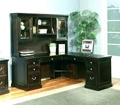 desks sauder office port executive desk secretary dark alder 240 sauder office port executive desk
