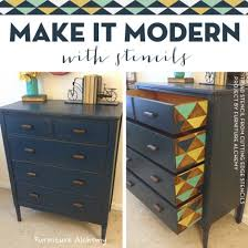 diy furniture makeover ideas. cutting edge stencils shares diy painted and stenciled furniture ideas using the triad stencil http diy makeover