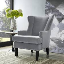 interior gray velvet wingback accent chair practical liveable 9 gray wingback chair