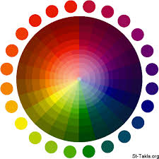 Colours Chart Clipart Color Wheel Bright Dark Png