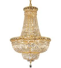 elegant lighting v2528d22g rc tranquil 22 light 22 inch gold dining chandelier ceiling light in royal cut