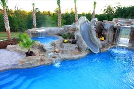 inground pools with rock waterfalls. Decoration: Inground Pool Waterfalls Best Home Swimming Pools With Slides Backyard Inspirational Crazy Cool You Rock